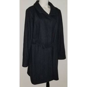 Old Navy Jackets & Coats - Old Navy Charcoal Gray Wool Blend Coat XL Belted